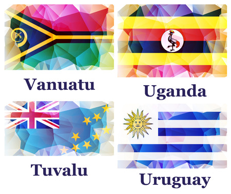 world flags: flags of the world illustration
