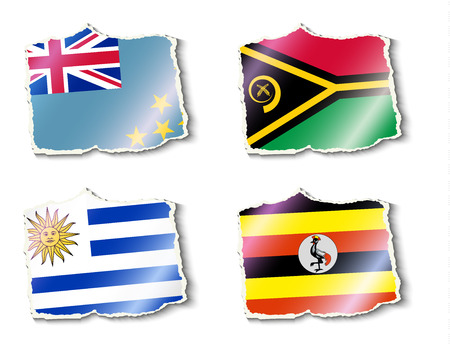 pennon: flags of the world illustration