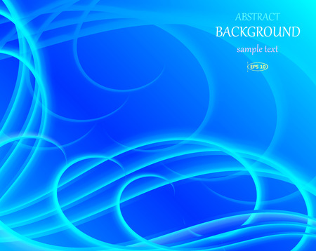 fluted: abstract blue wavy background