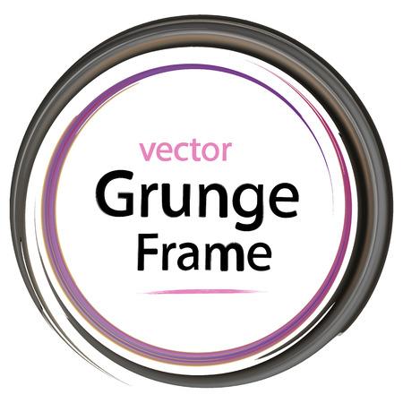 business backgound: grunge frame, retro, watercolor brushes, design elements, vector illustration