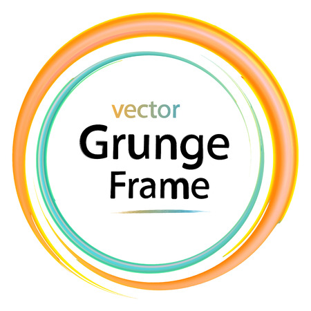 business backgound: grunge frame, retro, watercolor brushes design elements