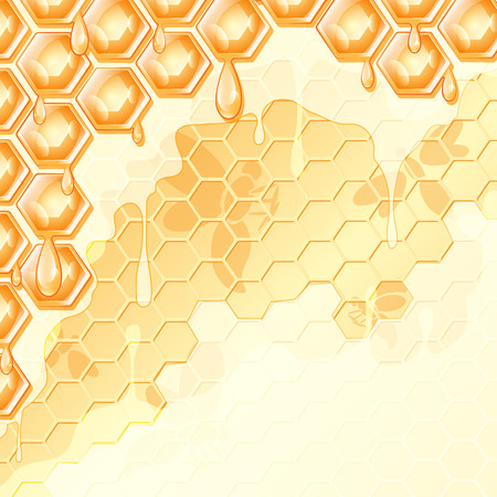 hexahedron: abstract background, honey honeycomb , vector illustration