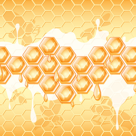 mead: abstract background, honey honeycomb , vector illustration
