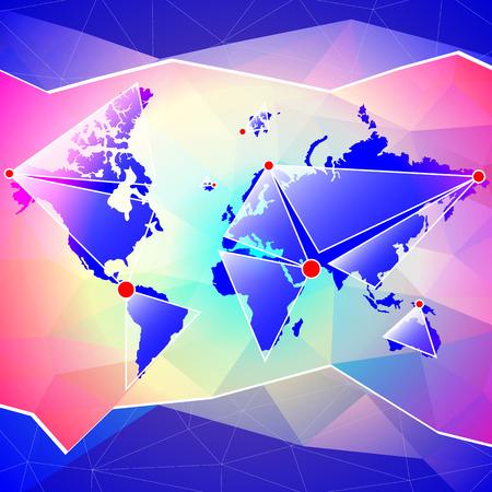 World map, abstract background, vector illustration Illustration