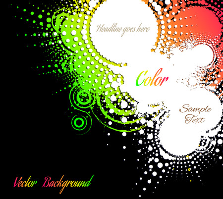 abstract bright background with place for text, grunge, retro, vector illustration