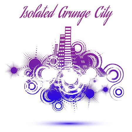 Isolated grunge city retro background