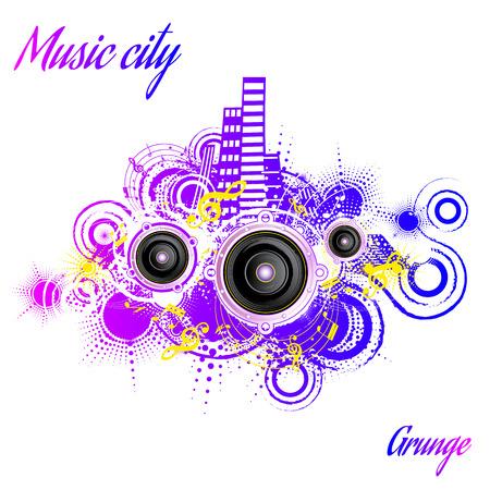 city background: Grunge city background music