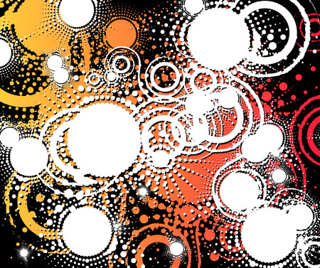 Contrasting bright abstract grunge background, vector illustration