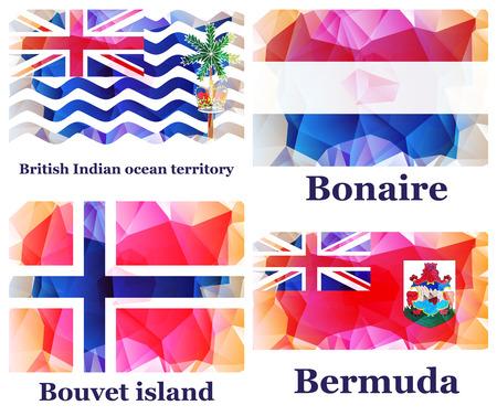 set of flags, vector illustration Illustration