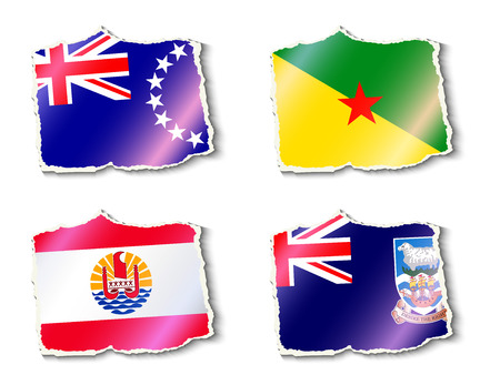 flags vector: set of flags, vector illustration Illustration