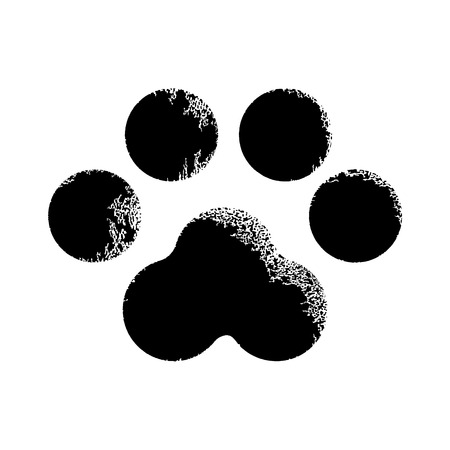 pawprint: Paw print animal Illustration