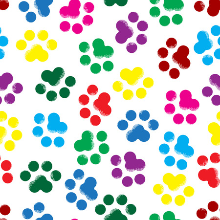 pawprint: colored footprints of the animal