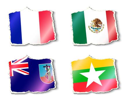 mayotte: set of flags, vector illustration Illustration