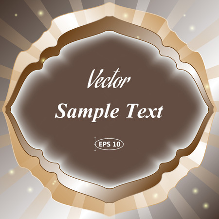 Frame for text , radial abstract background, vector illustration