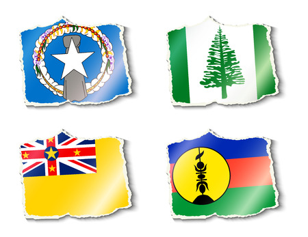color selection: set of flags, vector illustration Illustration