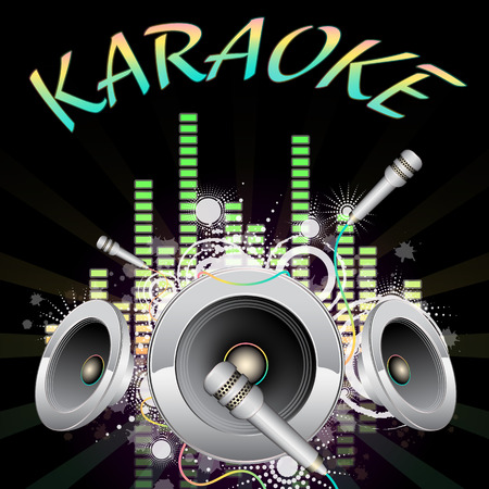 Background music, karaoke, vector illustration