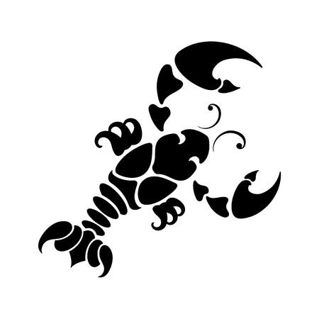 zodiac background: zodiac sign Cancer, vector illustration Illustration