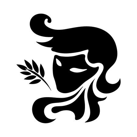 zodiac sign Virgo, vector illustration