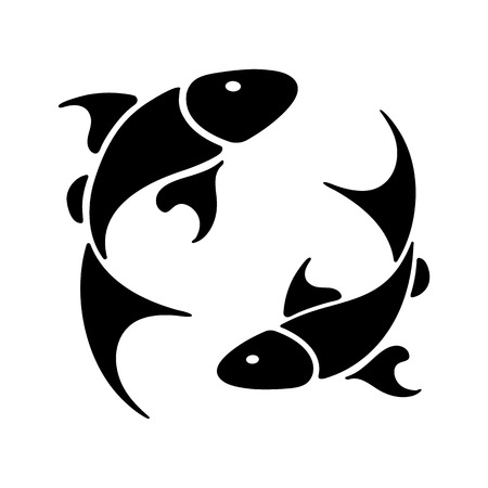 zodiac sign Pisces, vector illustration Ilustração