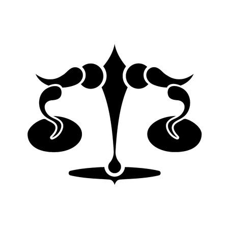 libra zodiac: Libra zodiac sign, vector illustration