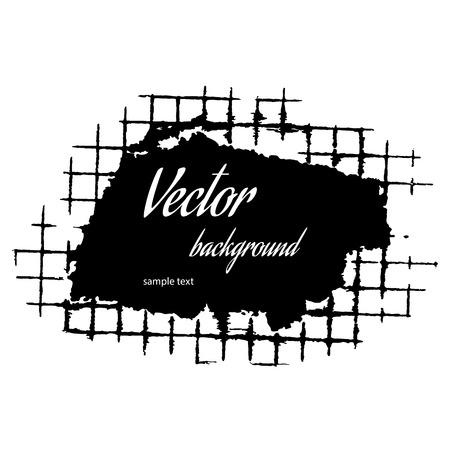 black grunge background: Grunge frame vector illustration Illustration