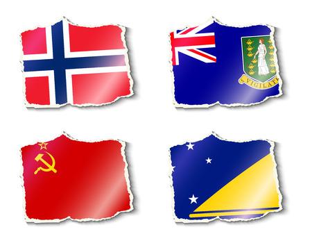 tokelau: set of flags, vector illustration Illustration