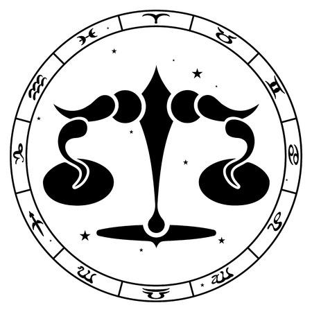 zodiac sign Libra vector illustration