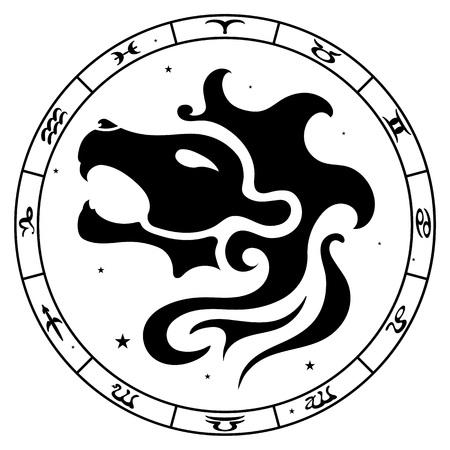leo: Leo zodiac sign, vector illustration Illustration