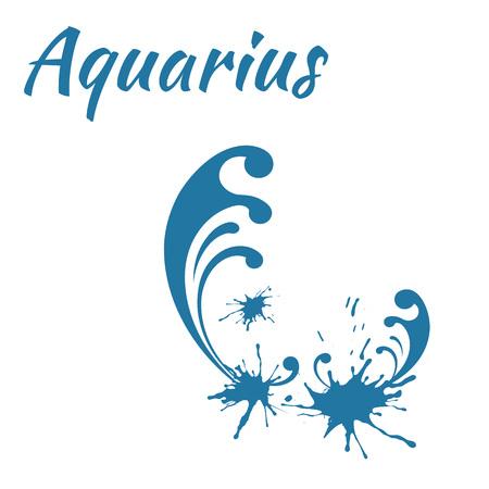 water birth: zodiac sign Aquarius, vector illustration Illustration