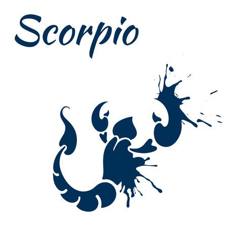 escorpio: signo del zodiaco del escorpi�n Vectores
