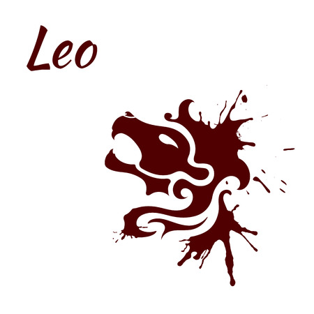 leo: Leo zodiac sign Illustration
