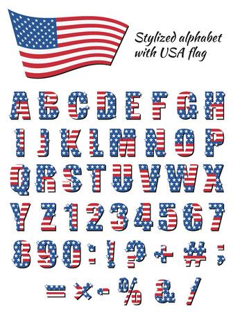 Alphabet for American Patriotic holidays