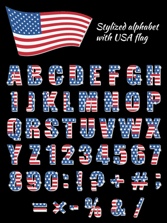 patriotic: Alphabet for American Patriotic holidays