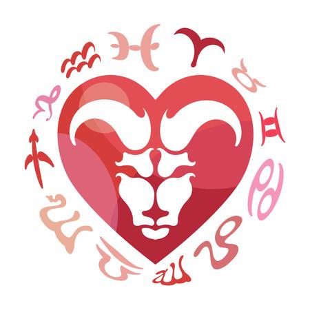 aries: Aries signo del zodiaco, ilustraci�n vectorial