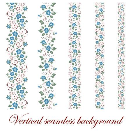 Floral seamless border, vector illustration