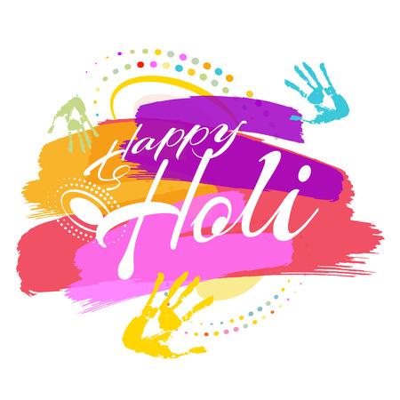 Happy Holi, a spring festival of colors, vector illustration 矢量图像