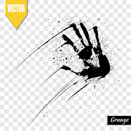 greased: Partial fingerprint, human hand, illustration