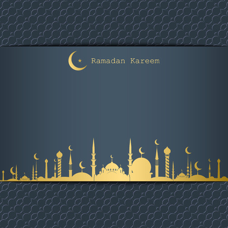 Ramadan Kareem greeting card Illustration