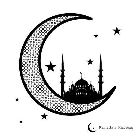 greeting card background: Ramadan Kareem greeting card, religious themed background in retro style