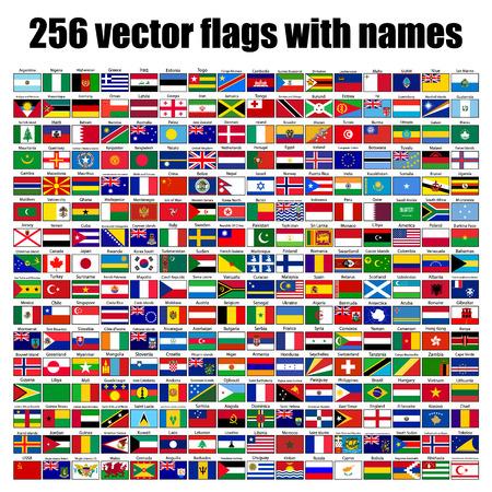 flags of the world, round icons, Lithuania, Luxembourg, Malta, Netherlands, Poland, Portugal, Romania, Slovakia, Slovenia, Finland, France, Republic, UK, illustration