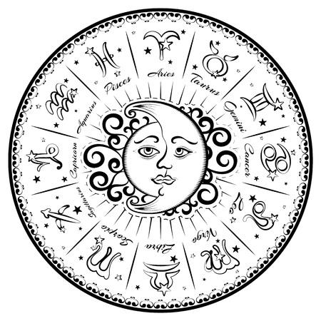 fate: Zodiac signs, horoscope, vector illustration