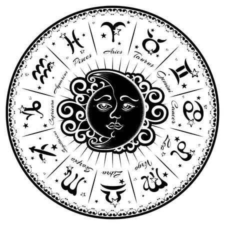 Sternzeichen, Horoskop, Vektor-Illustration Standard-Bild - 59959920