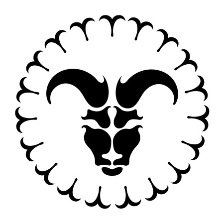 prognosis: zodiac sign Aries, vector illustration