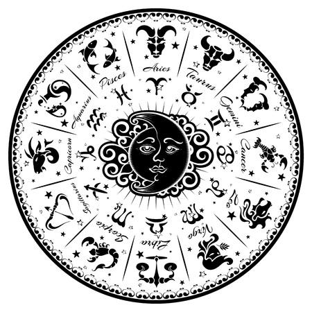 los signos del zodiaco, horóscopo, ilustración vectorial