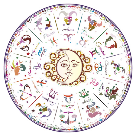 horoscope: Zodiac signs, horoscope, vector illustration