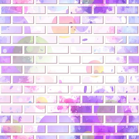 Ściana z cegieł, graffiti bezszwowy tło, wektorowa ilustracja