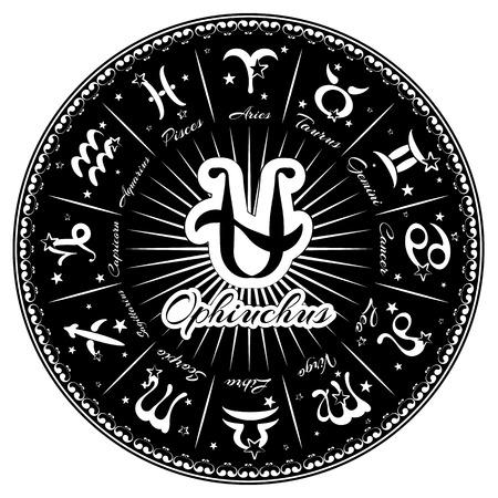 capricornio: los signos del zodiaco, horóscopo, ilustración vectorial