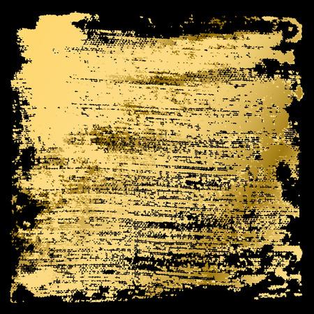 grunge banner: Golden grunge background, watercolor banner, vector illustration