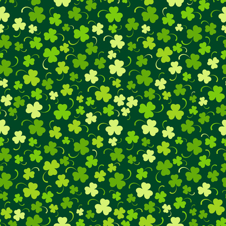 Happy St. Patricks day seamless background, vector illustration