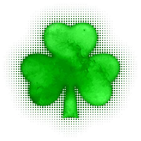 Happy St. Patricks day Shamrock grunge, vector illustration